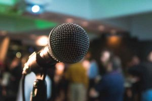 A photo of a microphone. Who are you talking to? Photo by Kane Reinholdtsen on Unsplash