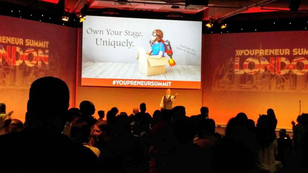 Jenny Flintoft's final slide: own your stage uniquely, leave the boxes to the kids