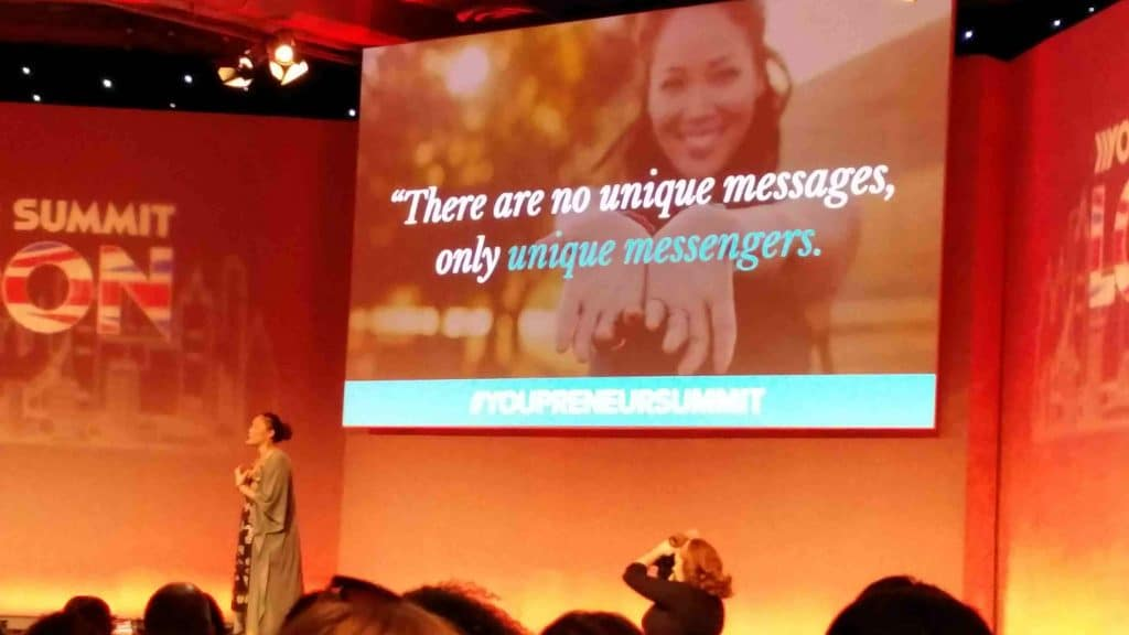 Jadah Sellner presenting at Youpreneur Summit