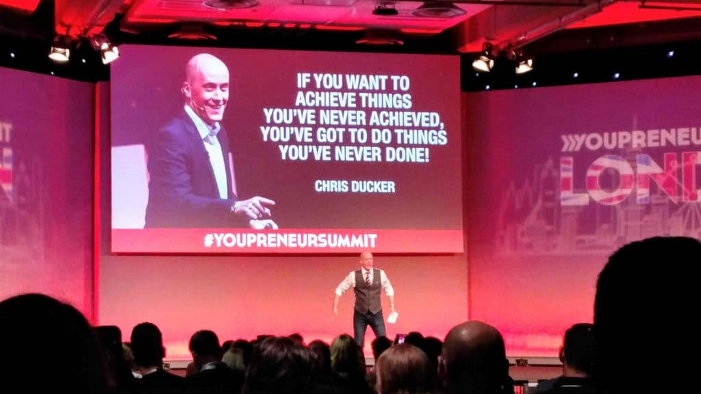 """If you want to achieve things you've never achieved you've got to do things you've never done"" Chris Ducker"
