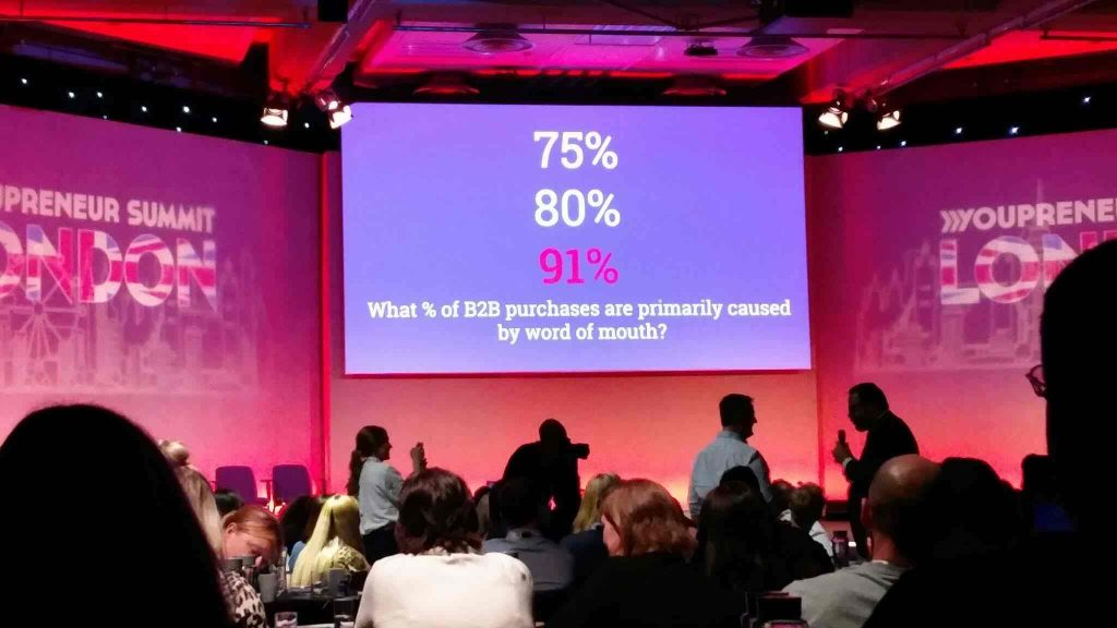 91% of B2B purchases are word of mouth