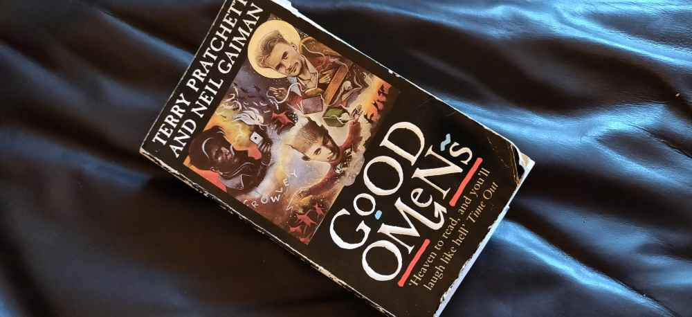 My husband's copy of Good Omens