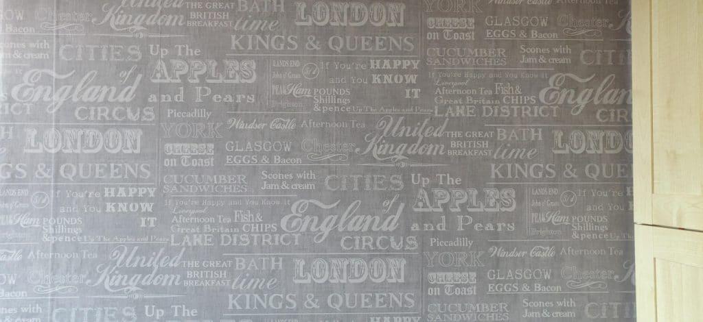 My friends' holiday cottage British wallpaper