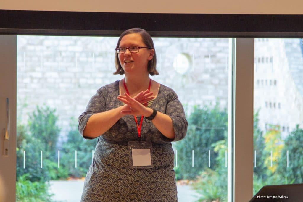 Rachel Extance speaking