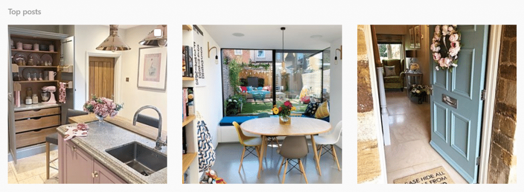 #LoveJL images from Instagram showing John Lewis products in homes