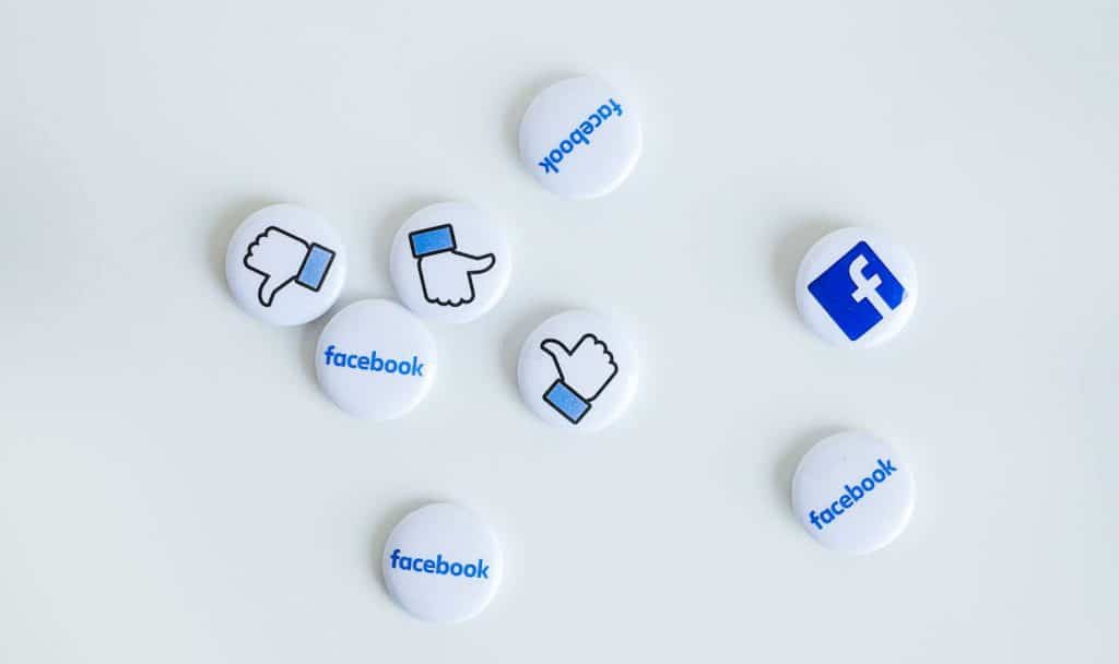 A photo of Facebook like badges. Are you committing drive-by engagement?