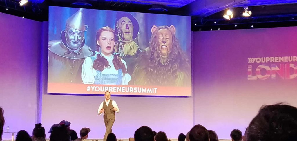 Pascal Fintoni on stage at Youpreneur Summit