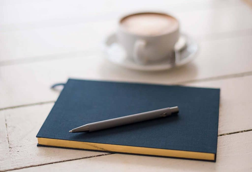 A photo of a notebook