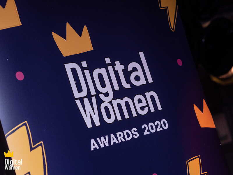 Banner for the Digital Women Awards 2020. Photo by Edwin Ladd