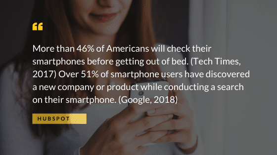 Smartphone stats from Hubspot