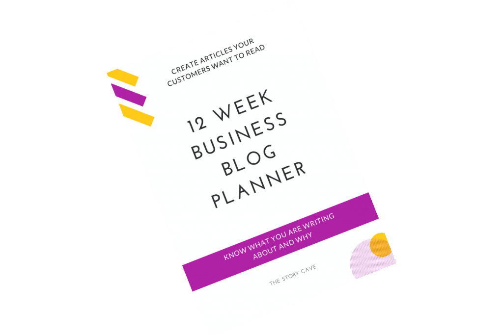 12 week business blog planner cover