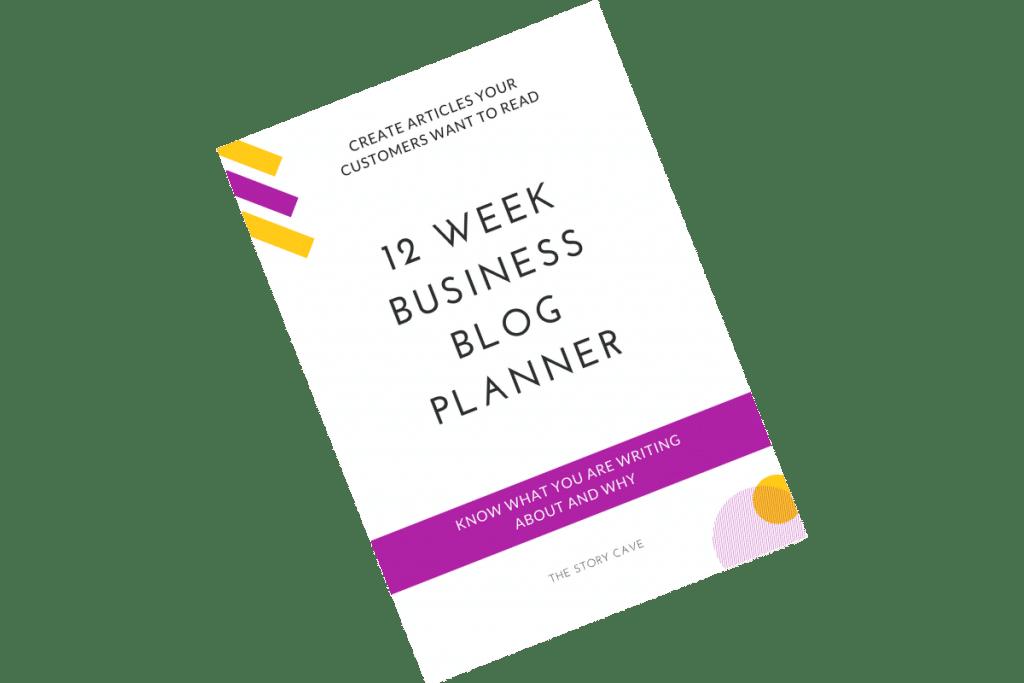 12 week business blog planner cover