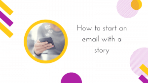 How to start an email with a story cover image